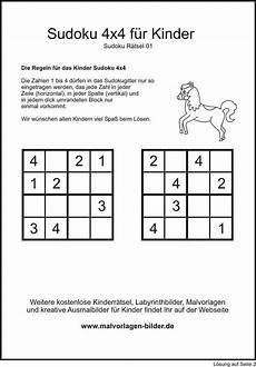 Kinder Malvorlagen Sudoku Kinder Sudoku Lernen R 228 Tsel F 252 R Kinder Sudoku
