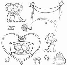 Malvorlagen Hochzeit Kinder Kostenlose Malvorlage Hochzeit Und Liebe Hochzeit Zum