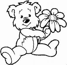 Malvorlagen Gratis Baer Haelt Blume Ausmalbild Malvorlage Tiere