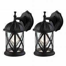 outdoor exterior wall lantern light fixture sconce twin pack matte black ebay
