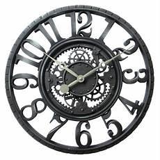 hometrends skeleton wall clock light black wall clock