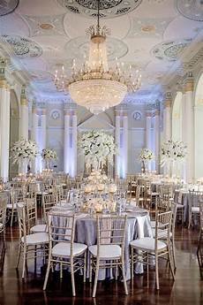 white silver gold wedding at the biltmore ballrooms in