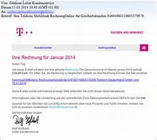 phishing falsche telekom rechnungen kommen per mail