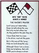 The Racers Prayer  This Was A Race Night Staple