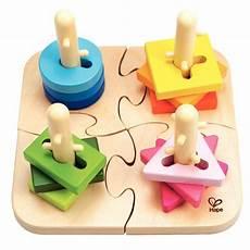 deco peinture chambre 21317 puzzle 224 boutons cr 233 atif en bois hape jeux 224 empiler ou 224 encastrer sur planet eveil