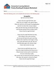 poetry analysis worksheet with answers 25533 poetry reading and analysis worksheet graphic organizer for 7th 10th grade lesson planet