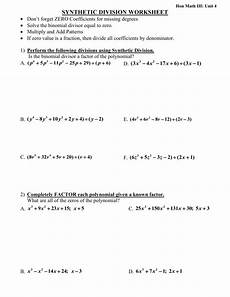 division of polynomials worksheets with answers 7014 synthetic division worksheetdon