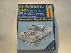 free online auto service manuals 1993 gmc jimmy seat position control haynes automotive repair manual chevrolet gmc s 10 s 15 pick ups jimmy ebay