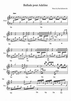 ballade pour adeline sheet music for piano download free
