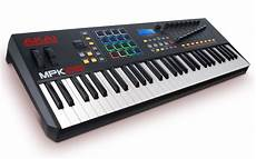weighted midi keyboard akai 61 key semi weighted keyboard controller mcquade musical instruments