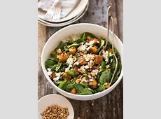 warm pumpkin spinach and feta salad_image