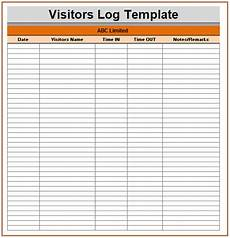 visitor log templates 11 free printable word excel pdf formats sles exles forms