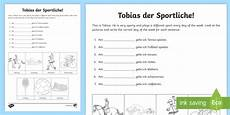 german phonics worksheets 19703 days of the week worksheet worksheet german days of the week sports