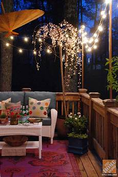 Home Decor Ideas With Lights by I Am A Real Sucker For Outdoor Lights Deck Decorating