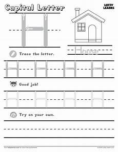capital letter m tracing worksheets 24323 capital letter h lotty learns letter h worksheets learning letters preschool worksheets