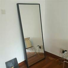 ikea stave mirror large 70x160cm black frame furniture on