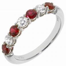 and co ruby diamond gold platinum wedding band ring at 1stdibs