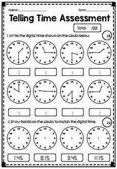 telling time worksheets quarter and half hour 2921 telling time assessment quarter hour half hour hour tpt