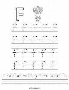letter f worksheets 23099 practice writing the letter f worksheet twisty noodle