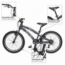 ollo bike 20 zoll kinderfahrrad blau fahrradanh 228 nger