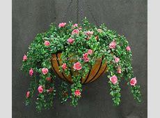 Outdoor Artificial Flowers   Azalea Hanging Basket