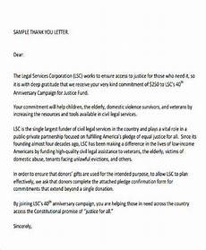 sle thank you letter for donation 10 exles in