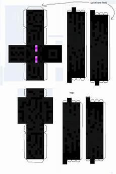 enderman paper template minecraft printables minecraft