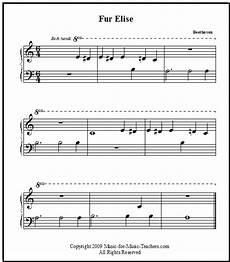 fur elise free easy printable sheet music for beginner piano