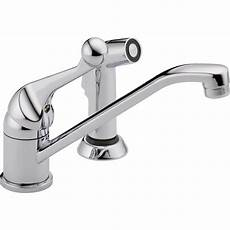 delta classic single handle kitchen faucet delta classic single handle side sprayer kitchen faucet in chrome 175lf wf the home depot