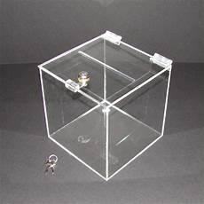 30cm lockable clear acrylic suggestion box