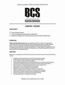 construction company resume template resume resume resume templates sle resume