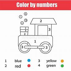 worksheets colors and toys 12707 coloring page with color by numbers printable worksheet educational for