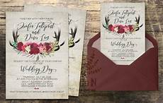 rustic wedding invitation rustic wedding invite calligraphy