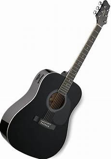 Stagg Sw201 Vt Electro Acoustic Guitar Black At Mighty