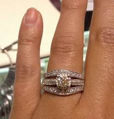 show me your wedding band engagement ring gap