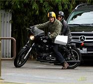 Halle Berry & Olivier Martinez Motorcycle Mates Photo