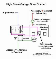 Installing A Garage Door Opener Wired To Motorcycle Hi Beam