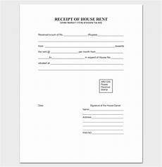 rent receipt template 9 forms for word doc pdf format