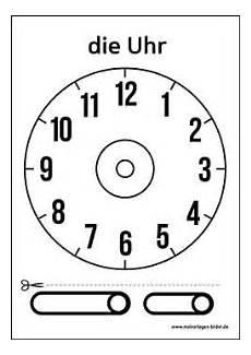 Ausmalbilder Uhr Mit Zeiger Zifferblatt Vorlage Ausdrucken Uhrzeit Lernen Uhr