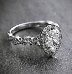 natural 1 75 ct pear cut halo diamond twist pave engagement ring f if ebay