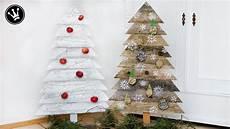 Weihnachtsdeko Aus Holz Selber Basteln - diy weihnachtsdeko selber machen tannenbaum aus holz