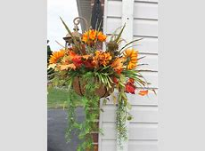 Silk Hanging plant Fall Mums by SilkEleganceFlorals on