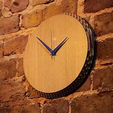 edge clock oak purple liquidesign studio touch of modern