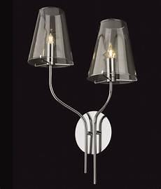 elegant glass double arm wall light