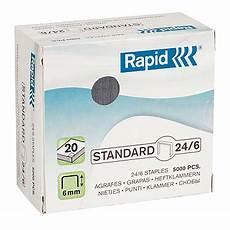 Rapid Agrafes 24 6 Boite De 5000 Agrafes Agrafeuse