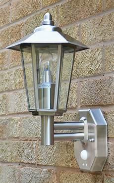 contesa pir wall light stainless steel motion sensor wall light