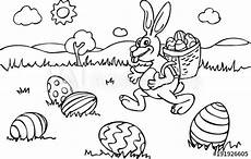 ausmalbild osterhase mit korb quot malvorlage osterhase mit korb l 228 uft 252 ber wiese mit eiern