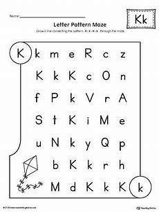 free letter k worksheets for preschool 24376 letter k pattern maze worksheet maze worksheet lettering letter k words