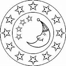Ausmalbilder Sterne Und Mond Sonne Mond Und Sterne Mandalas F 252 R Kinder Und Erwachsene