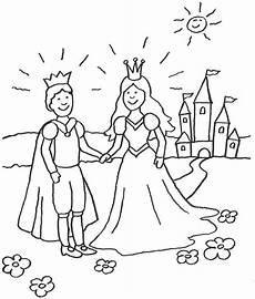 Malvorlagen Prinzessin Schloss Kostenlose Malvorlage Prinzessin Prinzessin Mit Prinz Vor